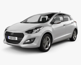 3D model of Hyundai i30 5-door 2015
