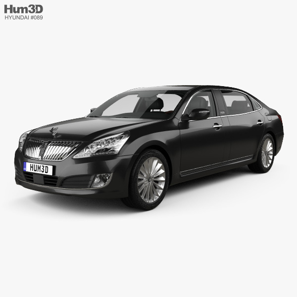 3D model of Hyundai Equus (Centennial) limousine with HQ interior 2014