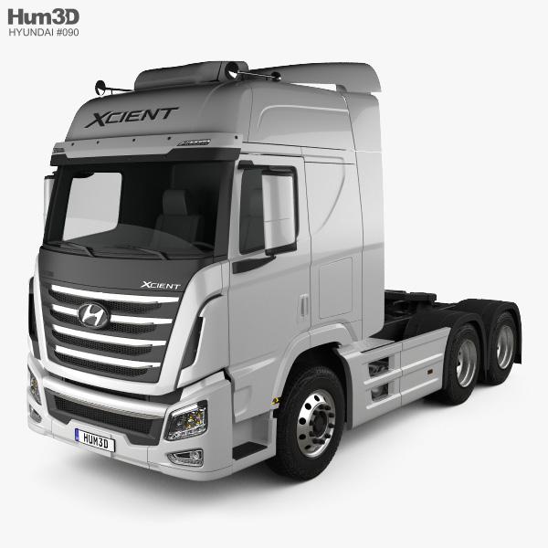 3D model of Hyundai XCient P520 Tractor Truck 2013
