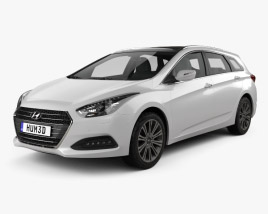 Hyundai i40 wagon 2015 3D model