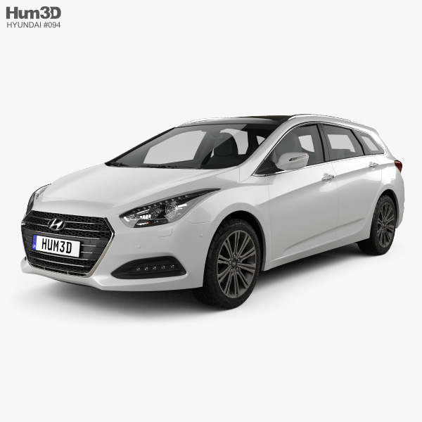 3D model of Hyundai i40 wagon 2015