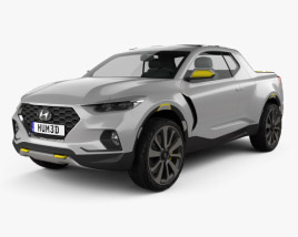 3D model of Hyundai Santa Cruz Crossover Truck 2015