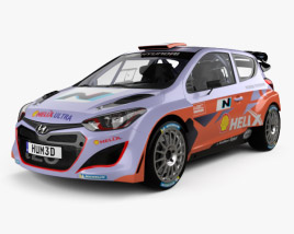3D model of Hyundai i20 WRC with HQ interior 2012