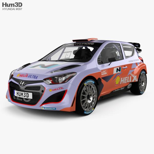 Hyundai i20 WRC with HQ interior 2012 3D model