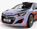 Hyundai i20 WRC with HQ interior 2012 3d model