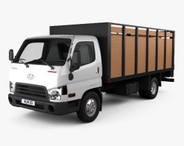 Hyundai HD65 Flatbed Truck 2012 3D model