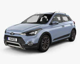 3D model of Hyundai i20 Active 2015
