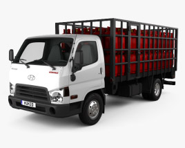 Hyundai HD65 Gas Bottle Truck 2012 3D model