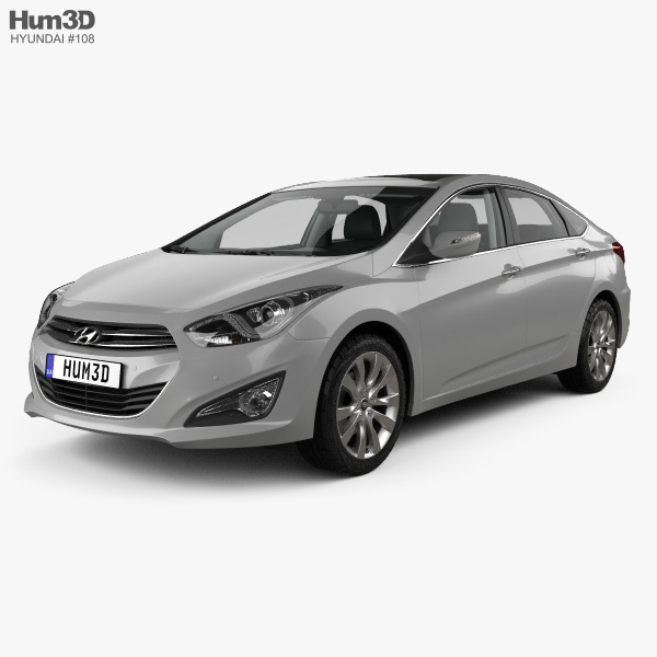 3D model of Hyundai i40 sedan with HQ interior 2011