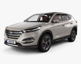 3D model of Hyundai Tucson with HQ interior 2016