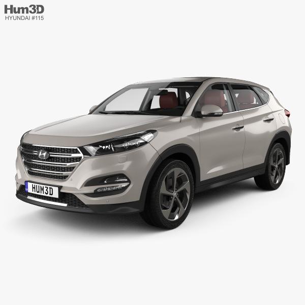 Hyundai Tucson with HQ interior 2016 3D model
