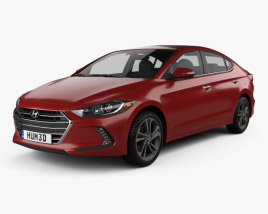3D model of Hyundai Elantra 2017