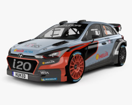 3D model of Hyundai i20 WRC 2016