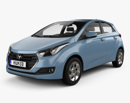 3D model of Hyundai HB20 2015