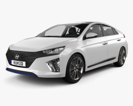 3D model of Hyundai Ioniq 2017