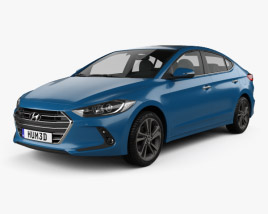 3D model of Hyundai Elantra (CN) 2017