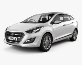 3D model of Hyundai i30 (Elantra) Wagon (UK) 2015