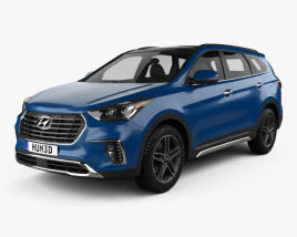3D model of Hyundai Santa Fe (DM) 2017