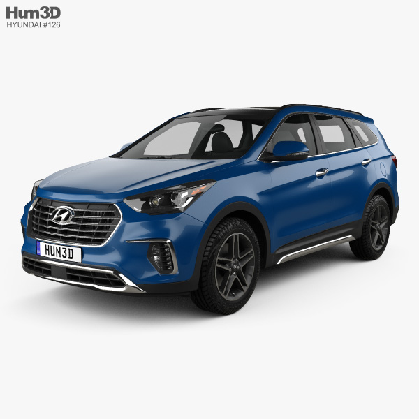 Hyundai Santa Fe (DM) 2017 3D model