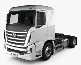 3D model of Hyundai Xcient P410 Tractor Truck 2013