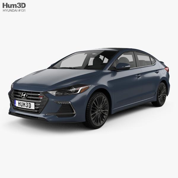 3D model of Hyundai Avante Sport 2017