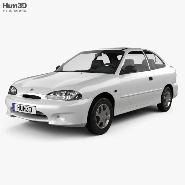 Hyundai Excel Sprint 1994 3D model
