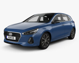 3D model of Hyundai i30 (Elantra) 5-door 2016