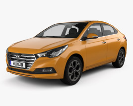 3D model of Hyundai Verna (Accent) 2017