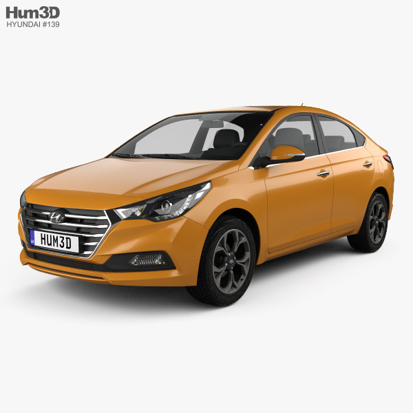 3D model of Hyundai Verna (Accent) 2017