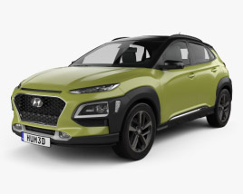 3D model of Hyundai Kona 2018