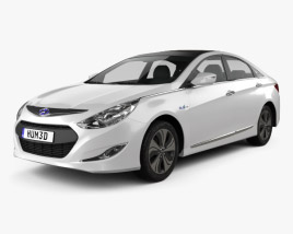 3D model of Hyundai Sonata (YF) hybrid 2015