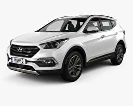 3D model of Hyundai Santa Fe (DM) 2015