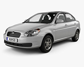 3D model of Hyundai Accent (MC) sedan 2006
