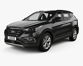 3D model of Hyundai Santa Fe (DM) KR-spec 2015