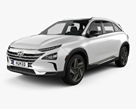 3D model of Hyundai Nexo 2019