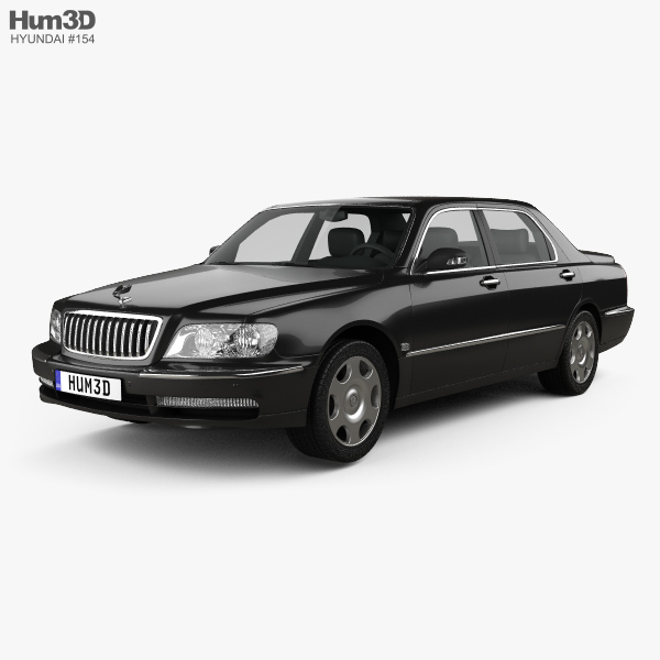 3D model of Hyundai Equus 1999