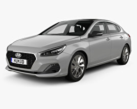 3D model of Hyundai i30 fastback 2017