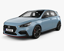 3D model of Hyundai i30 N hatchback 2017