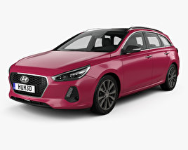 3D model of Hyundai i30 wagon 2017