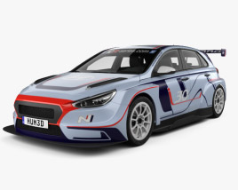 3D model of Hyundai i30 N TCR hatchback 2017