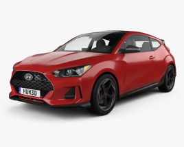 3D model of Hyundai Veloster 2019
