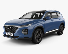 3D model of Hyundai Santa Fe 2019