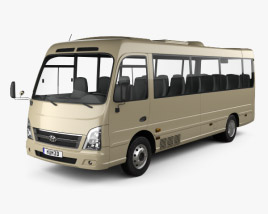 3D model of Hyundai County Bus 2018
