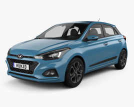 3D model of Hyundai i20 5-door 2018