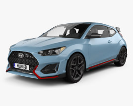 3D model of Hyundai Veloster N 2018