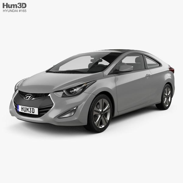 3D model of Hyundai Avante coupe 2014