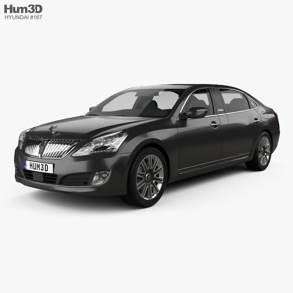 3D model of Hyundai Equus limousine 2014