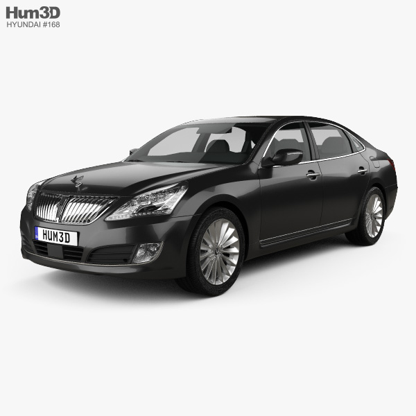 3D model of Hyundai Equus sedan 2014