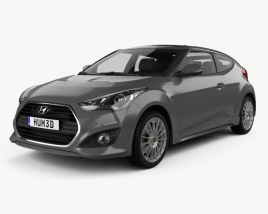 3D model of Hyundai Veloster Turbo 2014