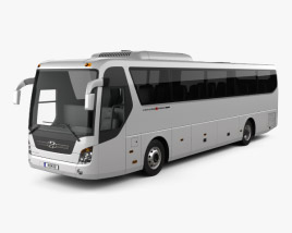 3D model of Hyundai Universe Xpress Noble Bus 2007